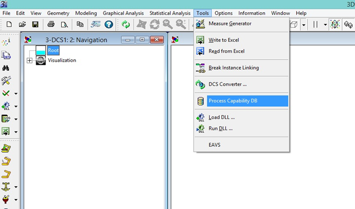 Multi CAD process database 3dcs