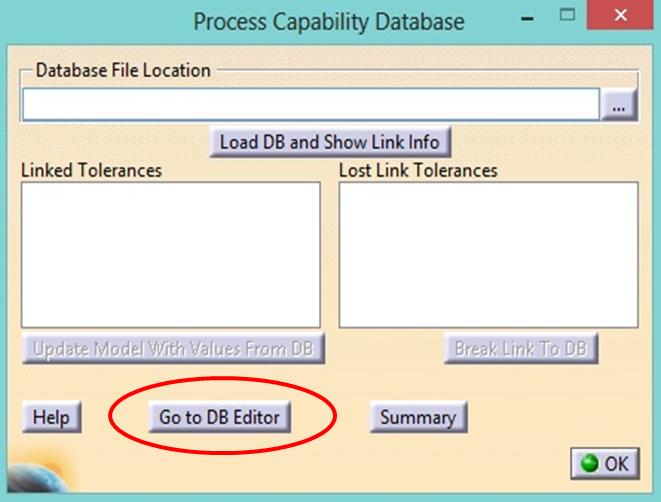 Process Capability Database Editor 3DCS