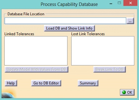 Process Capability Database locate data 3DCS