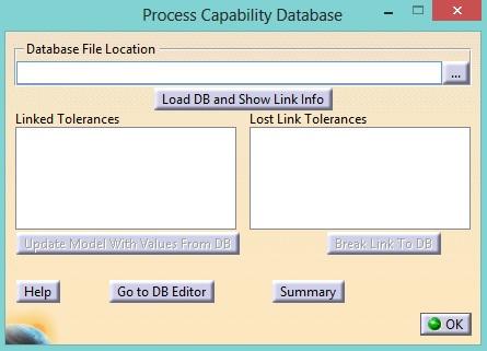 Process Capability Database locate data 3DCS