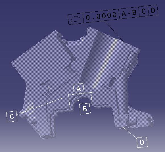 engine block datum setup 3dcs
