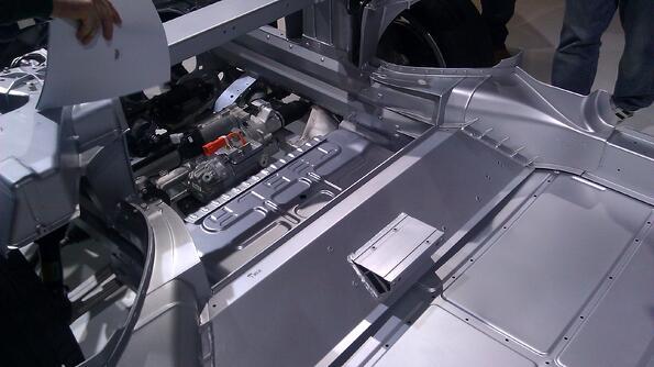 engine bottom carriage tesla