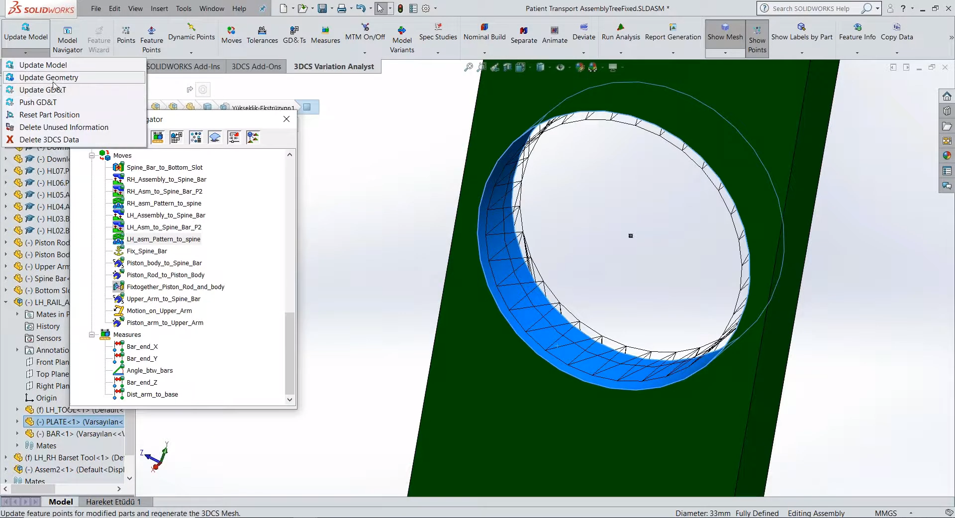 3DCS for SOLIDWORKS Mesh