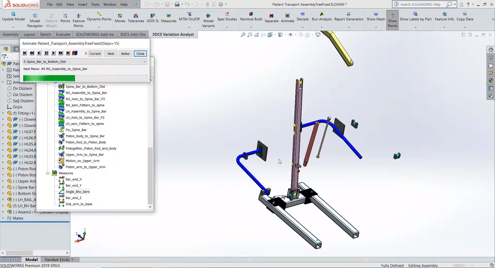 Create Multiple Assembly Stages in 3DCS for SOLIDWORKS