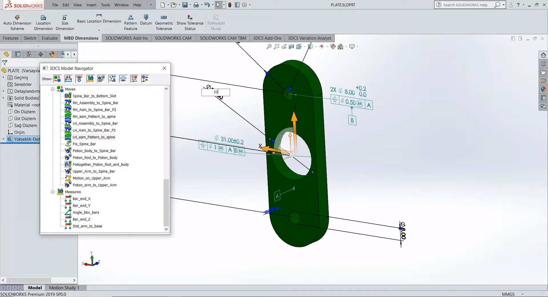 SOLIDWORKS Design Change - Increase Hole Diameter