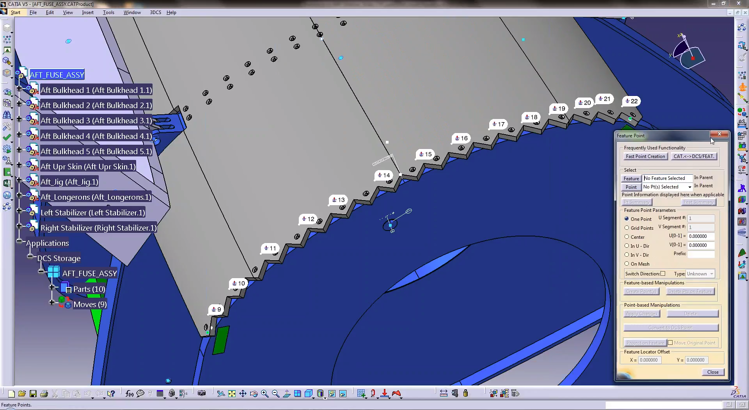 3DCS for CATIA V5 Fast Point Creation