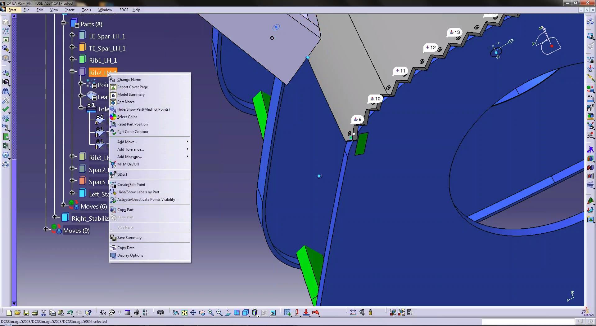 3DCS for CATIA V5 Right Click Menu