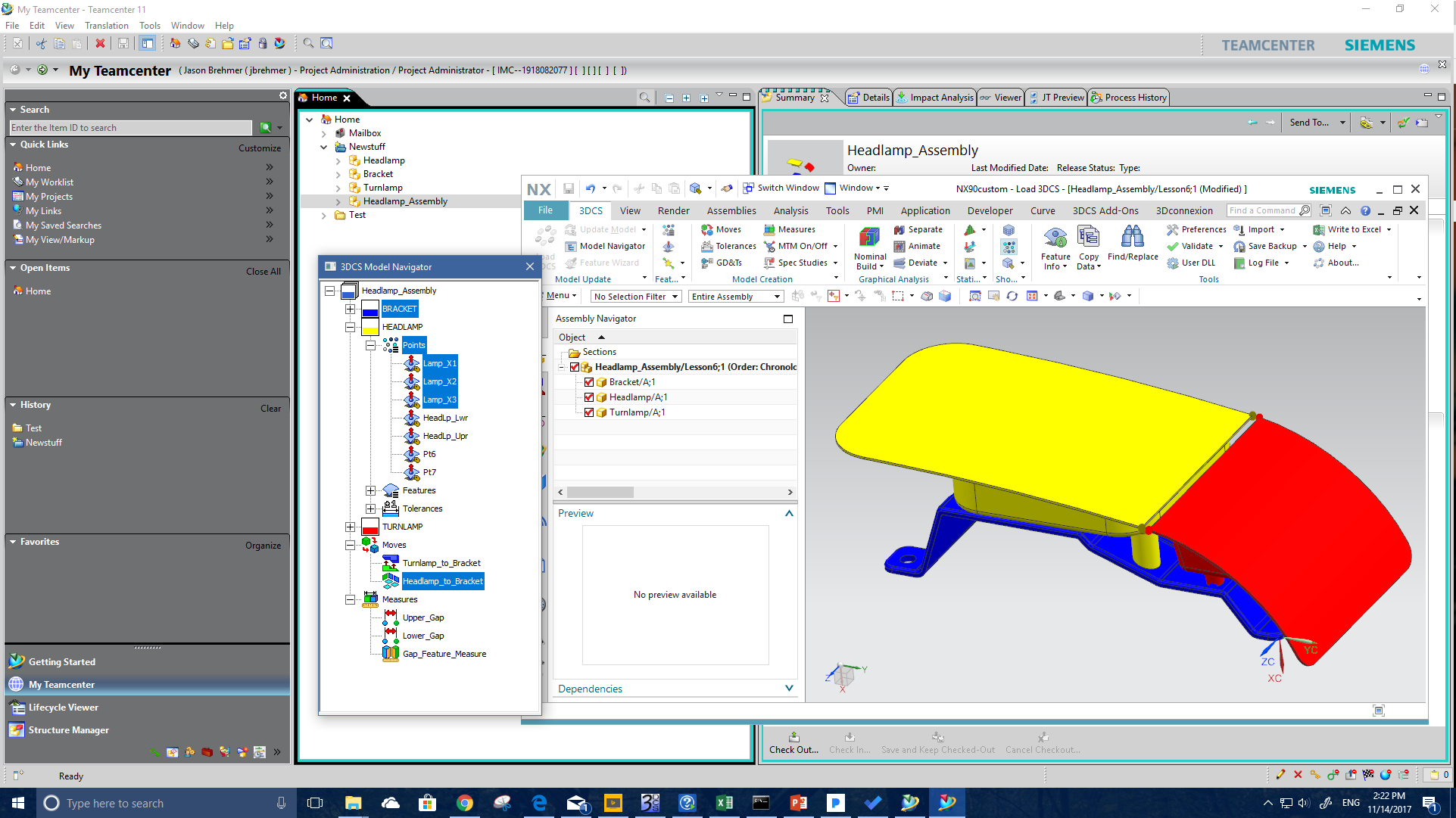 Headlamp in Siemens NX and Teamcenter