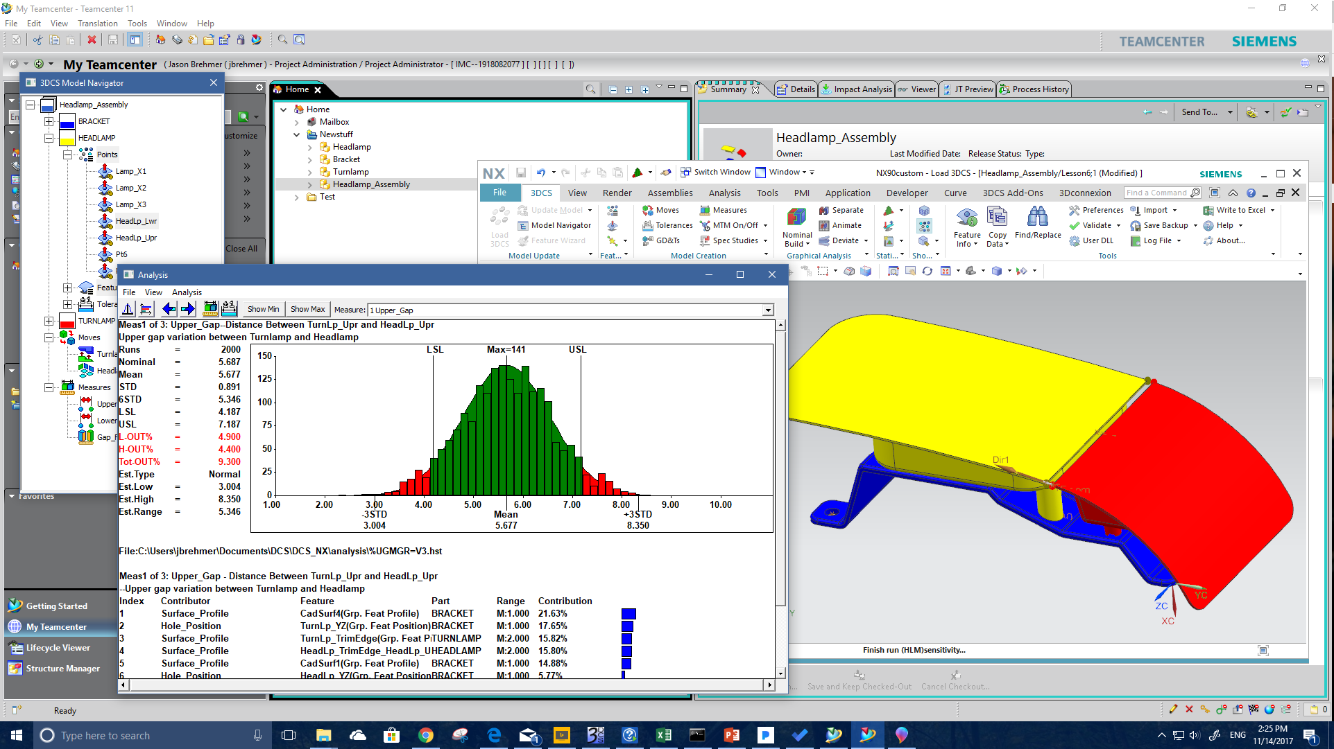 Simulation Results in NX and Teamcenter