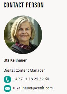 CENIT Contact Uta - Digital Content