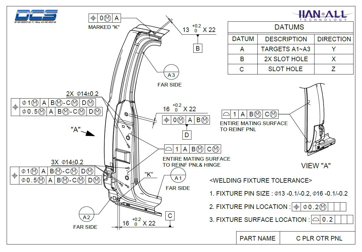 Door Gap GDandT Sheet