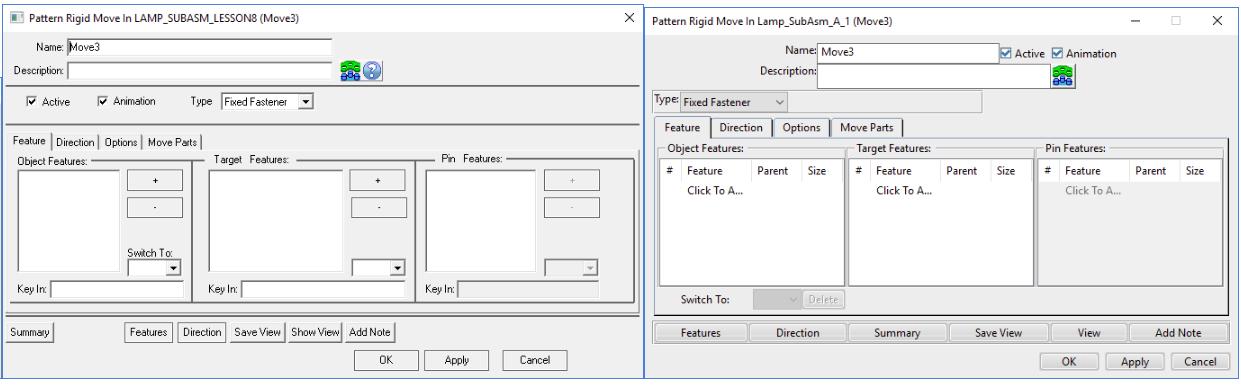 Selecting Features 3DCS MC
