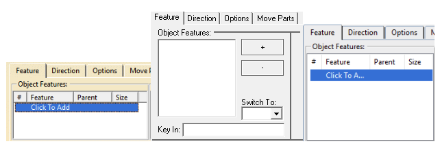 Select Add Feature - 3DCS Pattern Move