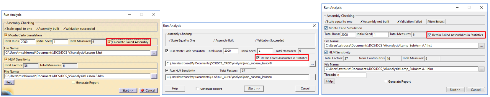 Tips when running analysis -- 3DCS Pattern Move
