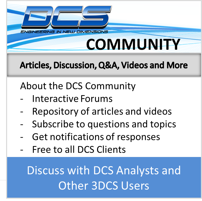 DCS Community- Tolerance Analysis Discussion, Articles, Videos