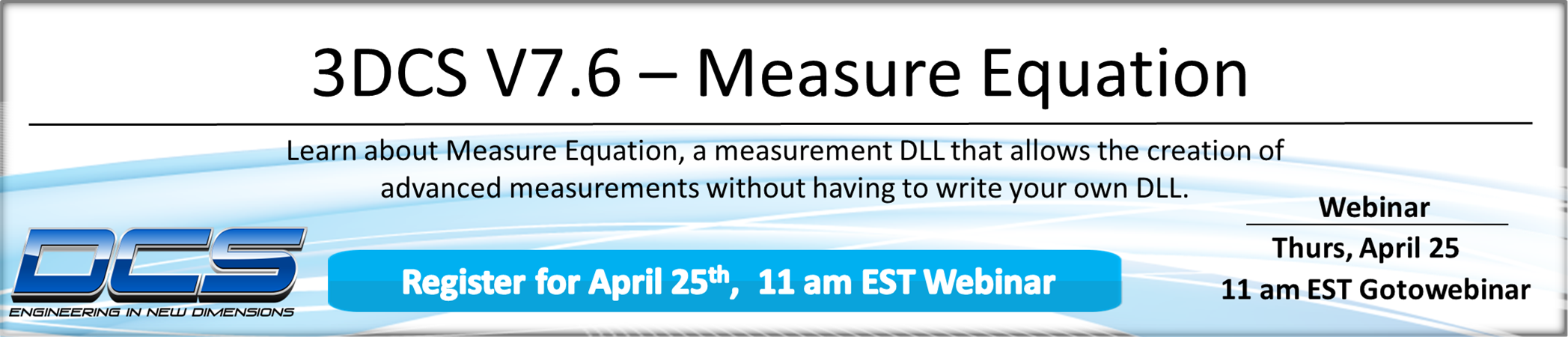 NEW TOPIC! Webinar Thursday - Equation Measure