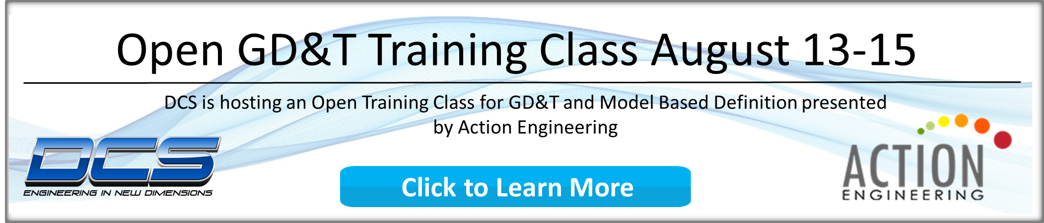 GD&T and MBD Open Training Coming August 13-15, 2019