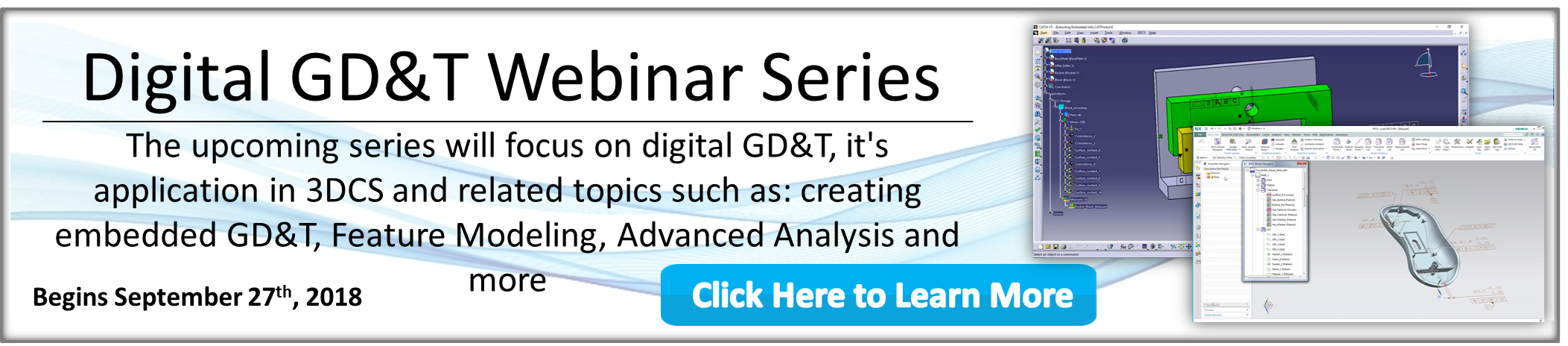 GD&T Applications Webinar Tomorrow! Learn from DCS' ASME Certified Trainer how to handle GD&T Scenarios
