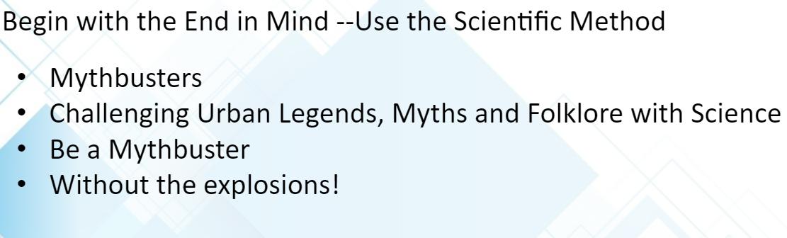Scientific method and explosions! DCS