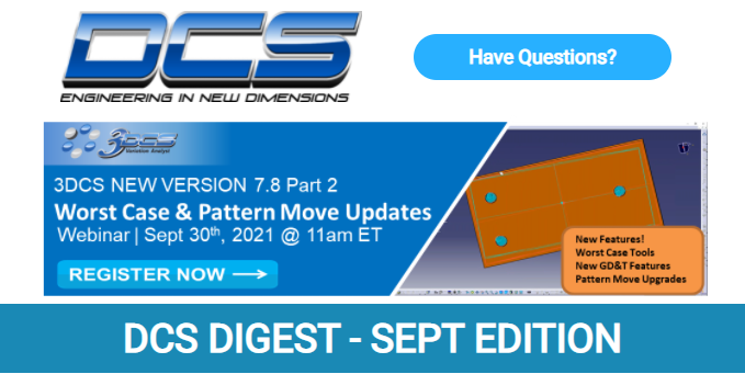 DCS Digest September Issue - 3DCS Webinar, Free eBook, Upcoming Quality Events