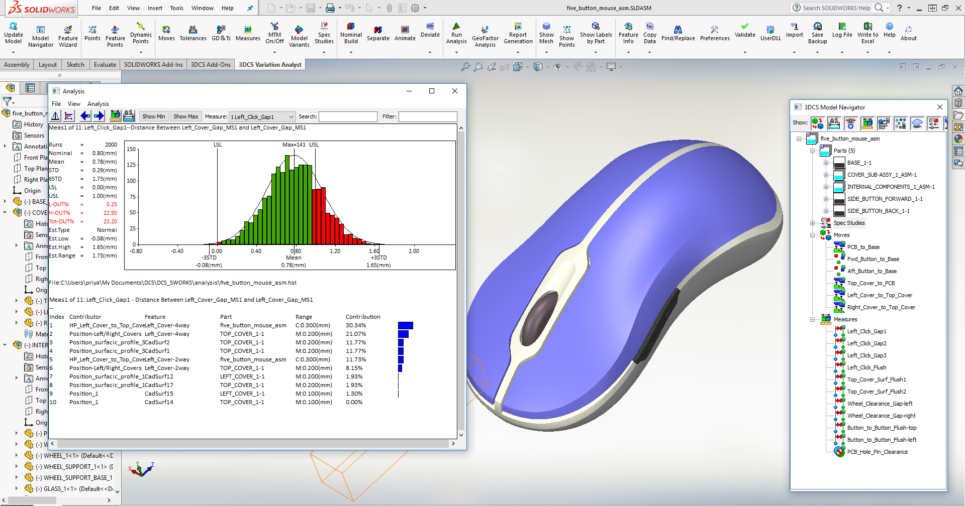 SOLIDWORKS Tolerance Analysis -- See the NEW Integrated Manufacturing Simulation Tool 3DCS