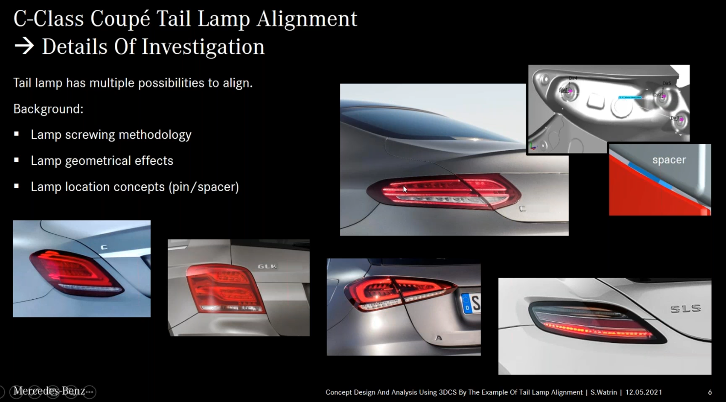 DCS Welcomes Mercedes Benz AG to Present Concept Design and Analysis Using 3DCS MultiCAD with Tail Lamp Alignment Example