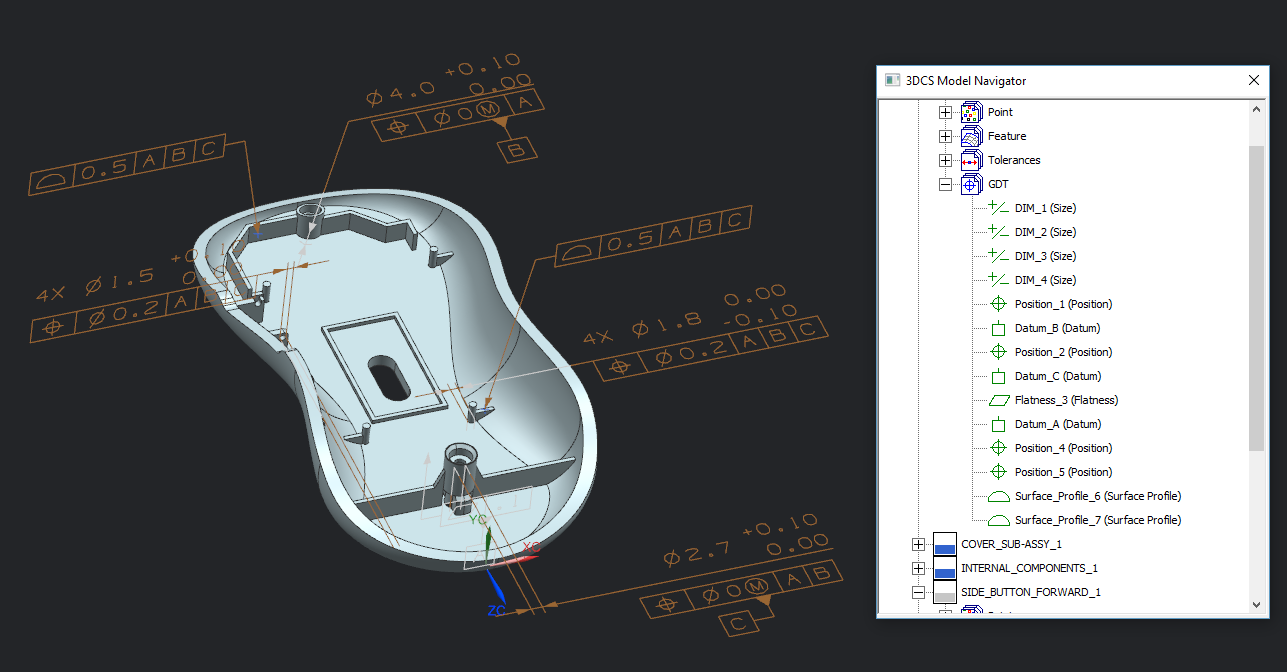 3DCS for NX - Using PMI, Geometry, Teamcenter, Ray Trace Studio and More