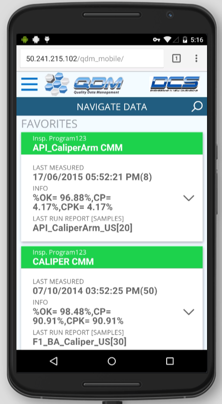 QDM WEB Now Available on Mobile Devices, Bringing Industry Leading SPC Tools to the Palm of Your Hand