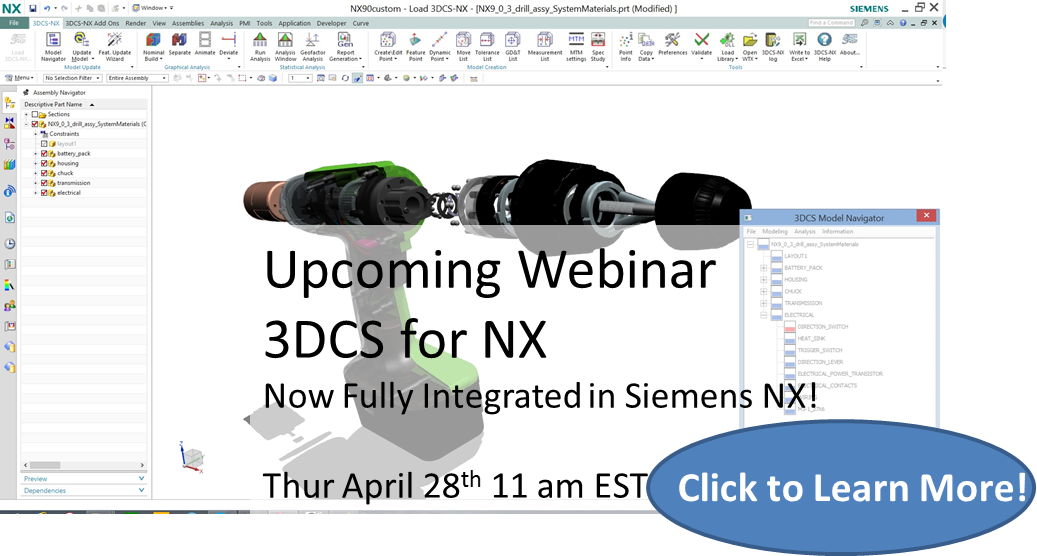 NEW! 3DCS for Siemens NX Highlights - Free Webinar This Thursday April 28th