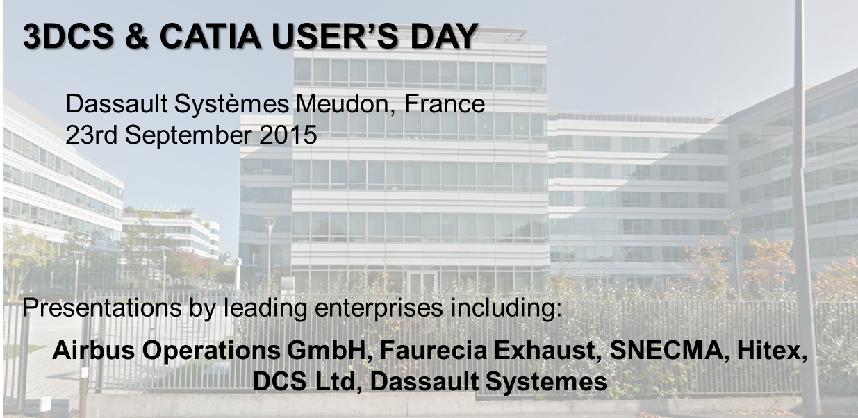 3DCS & CATIA USER'S DAY - EUROPE SEPTEMBER 23rd