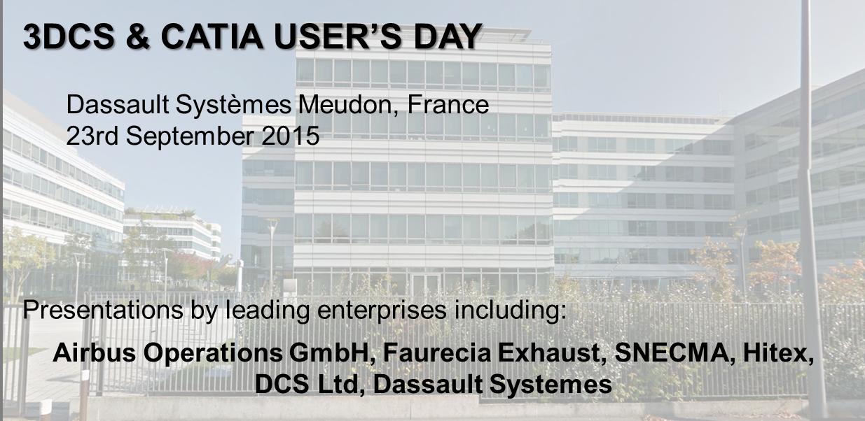3DCS & CATIA USER'S DAY - EUROPE SEPTEMBER 23rd