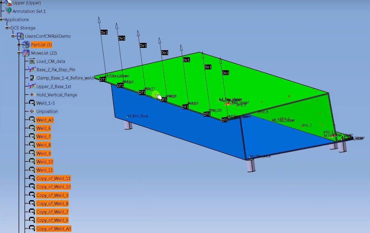 Test Weld Sequences with 3DCS FEA Compliant Modeler (Finite Element Analysis)