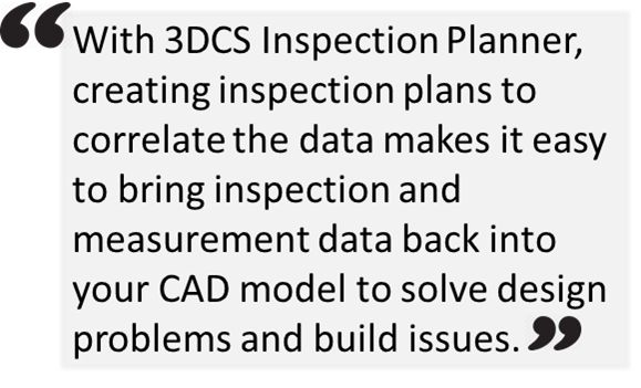 New Product - CAD Based Inspection Plans Integrated in CATIA