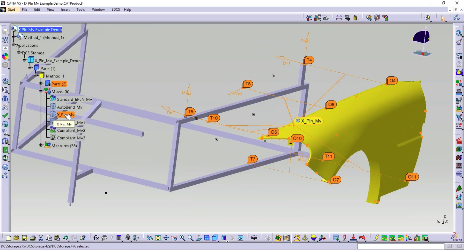 X Plane Move Brings Best Fit to 3DCS Tolerance Analysis Software