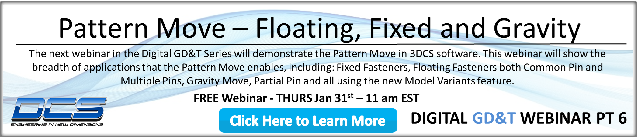 Upcoming Webinar - Pattern Move -- Setting Patterns of Holes and Pins and Then Some