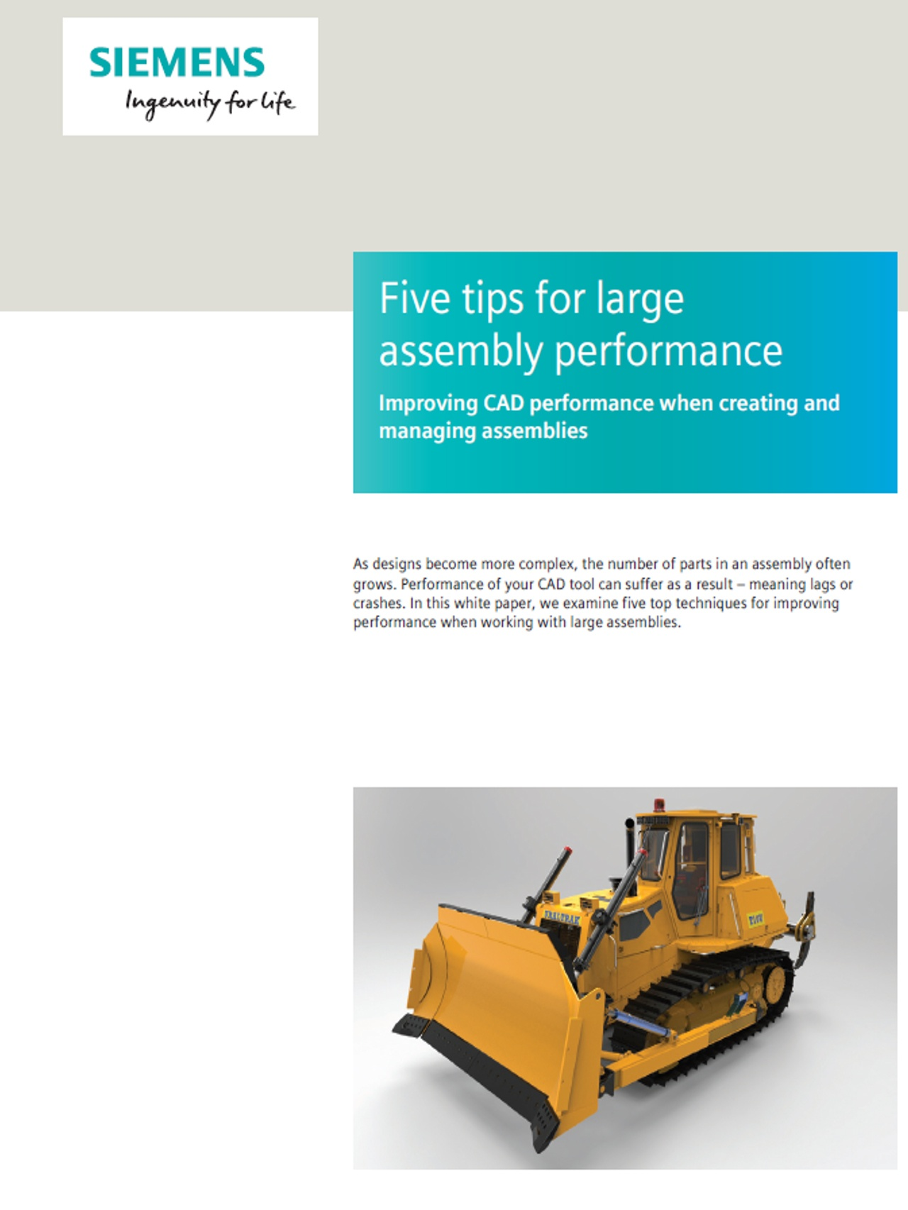 Large NX Models -- Siemens Whitepaper and Helpful Tips for 3DCS Tolerance Analysis