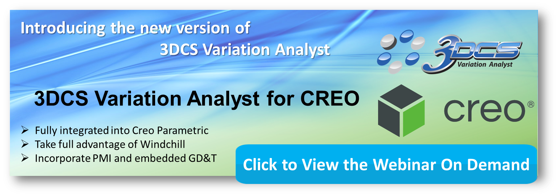 Webinar On Demand - 3DCS Now Integrated in Creo Parametric